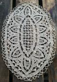 Hand Made Lace Candle Mat