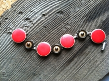 Red Black and White Bracelet